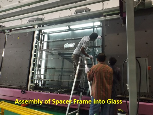 11-Assembly of Spacer Frame into Glass