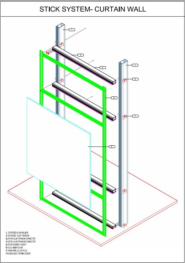 CURTAIN WALL STICK SYSTEM