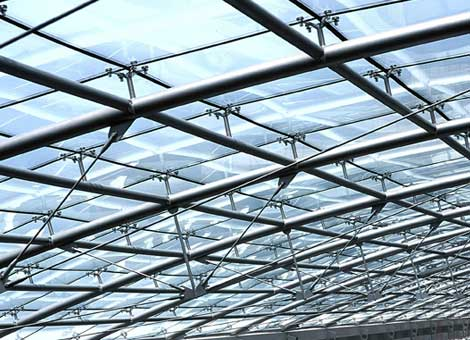 Skylight With Cable Net System Diamond Glass